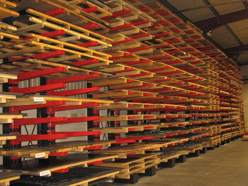 Industrial Racking Storage for Sheet Metal Materials