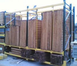 Typical Pallet Racking Yard Storage and Display of Fencing Products