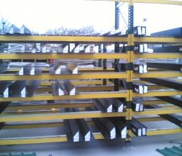 Steel lintels stored on Stakapal Pallet Racking