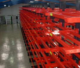 Cantilever Racking with additional Arm Cross Beam Supports for Metal Sheet and Plate