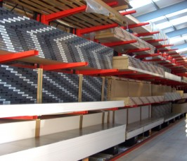 Cantilever Worktop Racking with Guide Rail