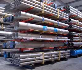 Stainless Steel Tube stored on Stakapal Conventional Cantilever Racking