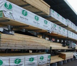 Carcassing Timber stored on Cantilever Racking with Canopy Roof