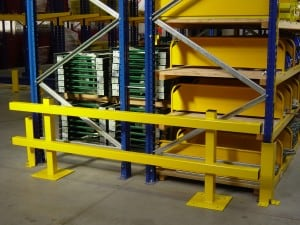 Extra Heavy Duty Double Sided Pallet Racking Protection Barrier for Warehouse, Factory or Yard