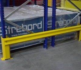 Stakapal offer both Single or Double Sided Pallet Racking End Barriers