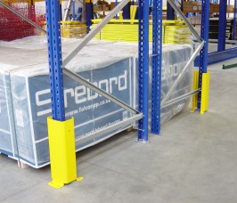 Heavy Duty Wrap Around Steel Pallet Racking Post Protector in top quality safety yellow