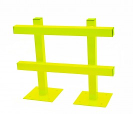 Extra Heavy Duty Single Sided Pallet Racking End Barrier for Protection against Forklift Truck damage