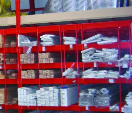 Pigeon Hole Racking is ideal for self-selection of PVCu products