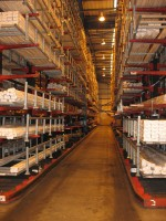Stakapal Cantilever Racking offers the flexibility for storage of varying lengths of PVCu Extrusions