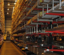 The Window and Conservatory sector utilise High Bay Cantilever Racking with Giude Rails for Specialist Trucks