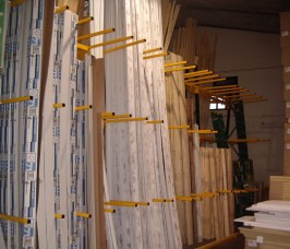 Vertical Storage Racking / A - Frame is ideal for hand picking of PVCu