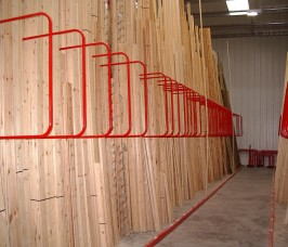 Stakrak SR3000 Series A - Frame Timber Storage Racking with D Divider Arms