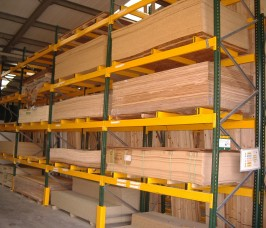 Pallet racking offers a low budget storage option for Panel Products and Sheet Materials