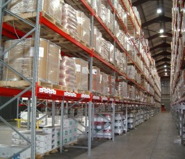 Palletised products stored on Stakapal Pallet Racking in Distribution and Logistics Warehouse