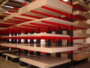 Stakapal Cantilever Racking for large size Panel Product storage