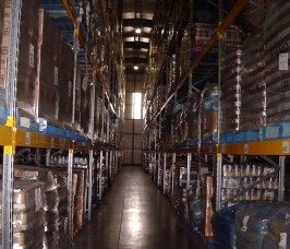 Narrow Aisle Pallet Racking improves access to and rotation of Palletised stock