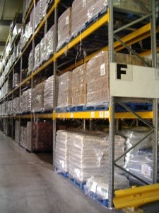 Food and Ingredients Stored on Stakrak SR2000 Series Pallet Racking