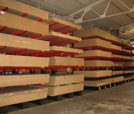 Picking rates are substantially improved increasing productivity when Conventional Cantilever Racks are used for Panel Products