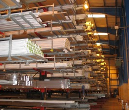 As bespoke manufacturers Stakapal offer the option of Cantilever Racking with additional End Stops