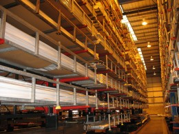Extruders of PVCu profiles commonly utilise Cantilever Racking in their warehouse