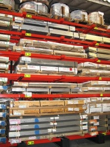 Aluminium Sheet & Plate stored in the correct format increases the range of product held in a warehouse at any one time