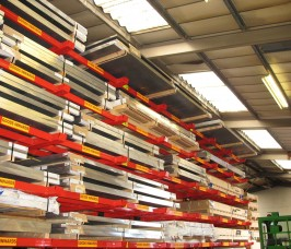 Aluminium Sheet and Plate Cantilever Racks