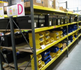 Shelving Racks suitable for Boxes, Plastic Bins, Spare Parts and Accessories Storage