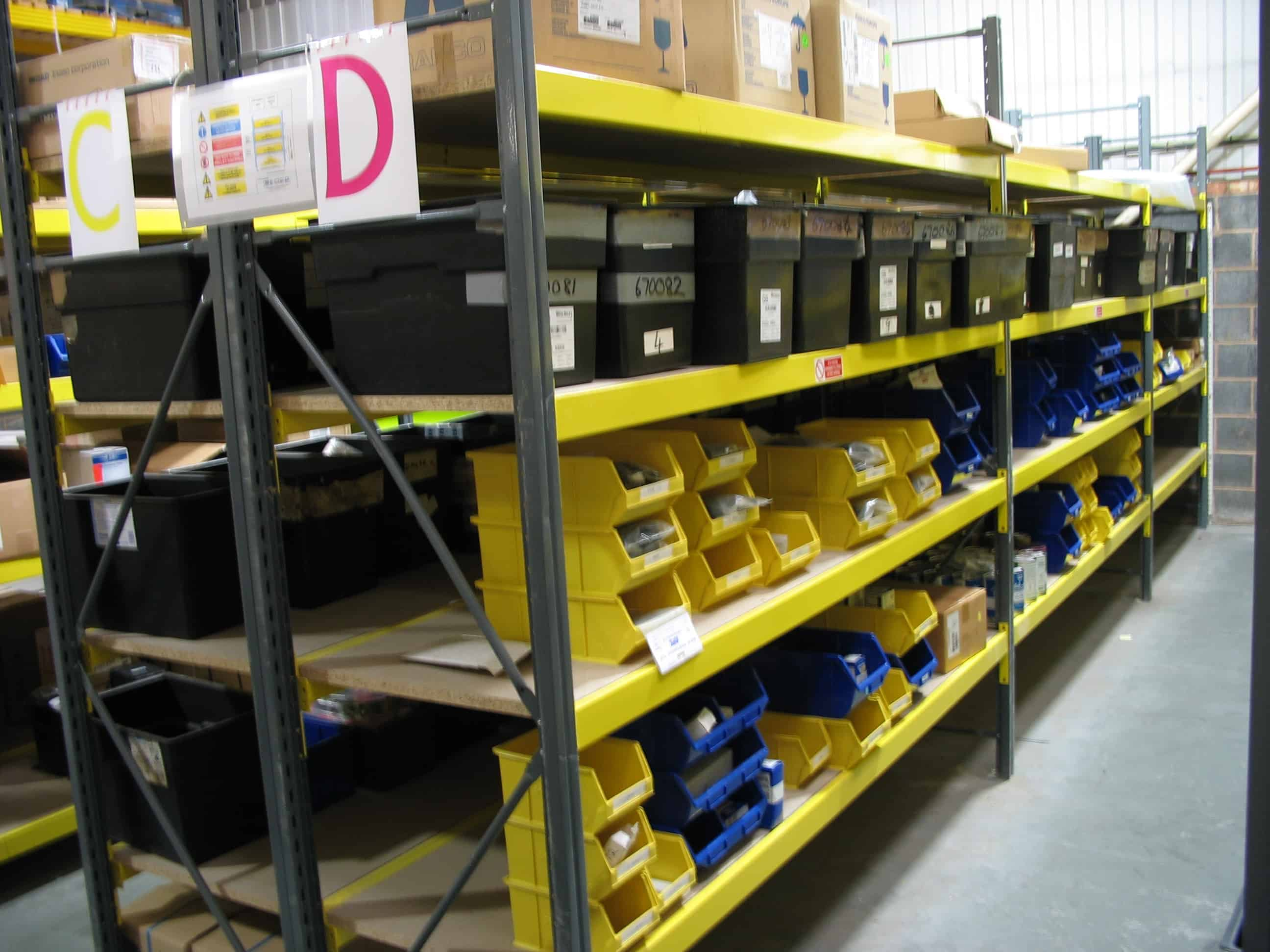 widespan shelving for factories