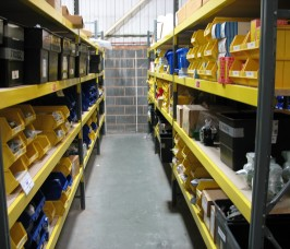 Longspan Shelving can be easily adjusted to meet changing Stockholding requirements