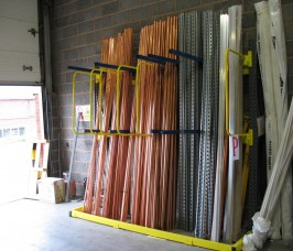 A - Frame / Vertical Storage Racking for Copper Pipe self - selection