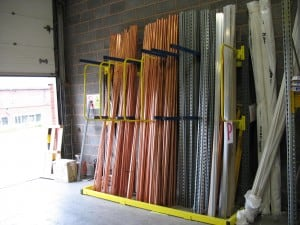 When storing Copper Pipe Vertical Storage Racking reduces stock damage whilst improving product selectivity
