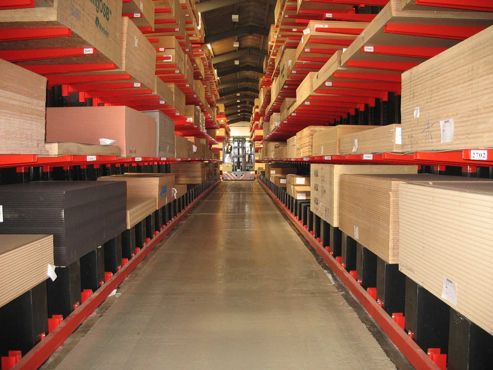 panel products cantilever racking