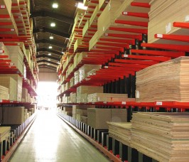 The KBB sector store a variety of Sheet Materials on Cantiiever Racking for ease of access as well as selectivity