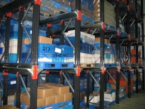 Drive - In Pallet Racking for high density Storage of slow moving stock