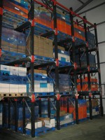 Drive-In Pallet Racking is used for slow moving products, a low number of product lines or seasonal goods