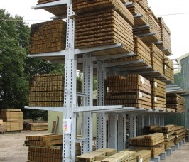 External Galvanised Cantilever Racking for Carcassing Timber