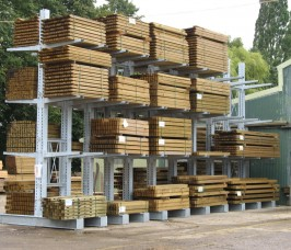 External yard Galvanised Cantilever Racking for Carcassing Timber storage