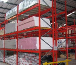 Typical Bagged Cement Products and Plasterboard Storage