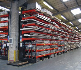 Stakapal Racking offers the flexibility to store various lengths of Steel Sheet Materials