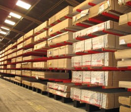 Panel / Sheet Material Storage on Cantilever Racking
