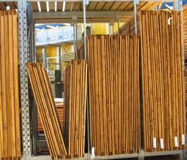 Secure External Storage of Fencing on Stakapal Galvanised Pallet Racking
