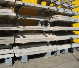 Concrete Lintels stored on Cantilever Racks