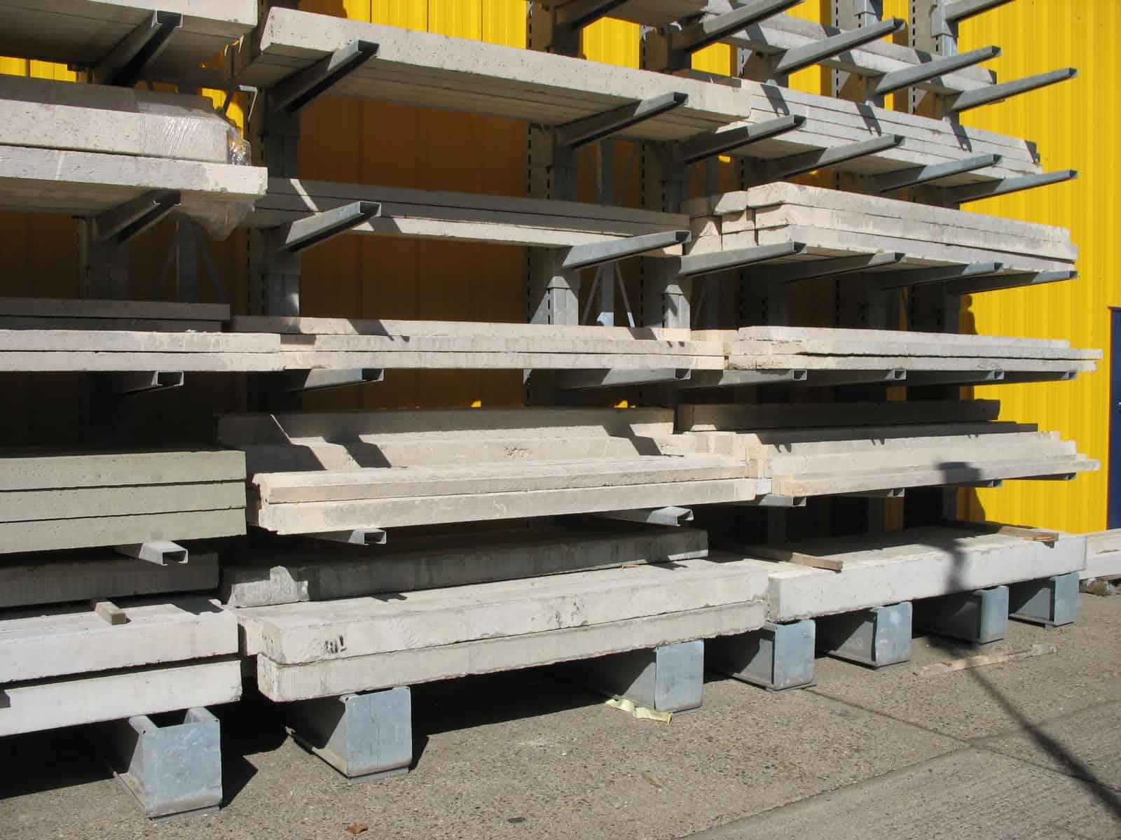 Lintels stored correctly on Stakapal Cantilever Racking systems means that a wider range can be accommodated