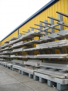 Cantilever Racking for storage of Concrete Lintels
