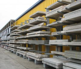 Cantilever Racking for Concrete Lintel Storage and Display
