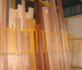 Lengths of up to 6 Metres of Softwood Timber and Hardwood Timber can be stored In Vertical Storage Racking