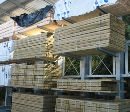External Cantilever Timber Rack