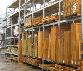 Pallet Racking for Yard Storage and Display of Fencing Products