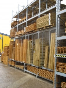 Fencing Products and Accessories Stored on Stakrak SR2000 Series Pallet racking
