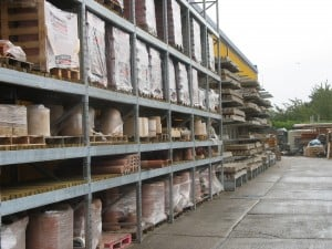 External Pallet Racking and Cantilever Racking for Builders Merchants Yards